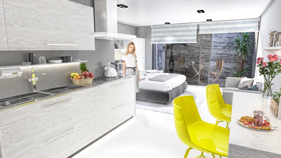 Studio condo design 5th Avenue