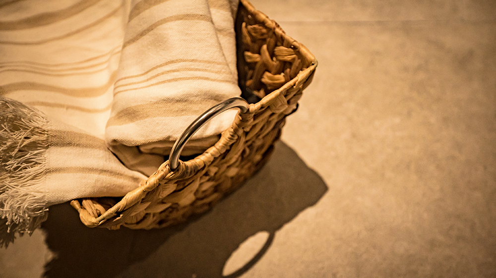 Basket and a towel