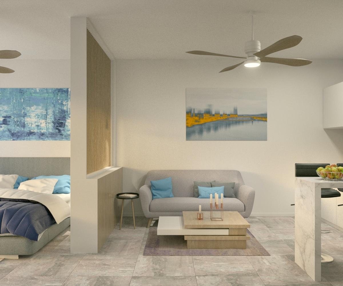 The condo lounge