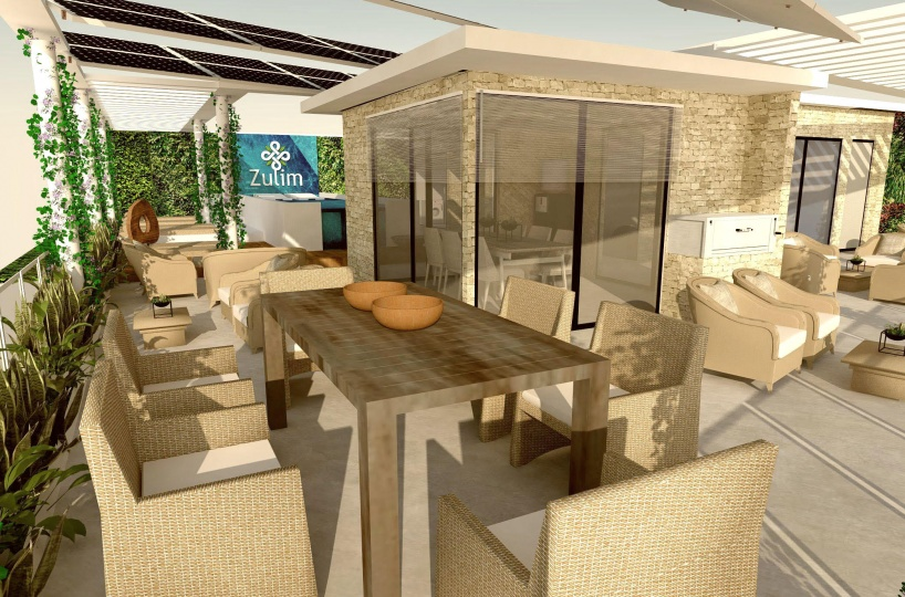 Terrace of condo in Playa del Carmen
